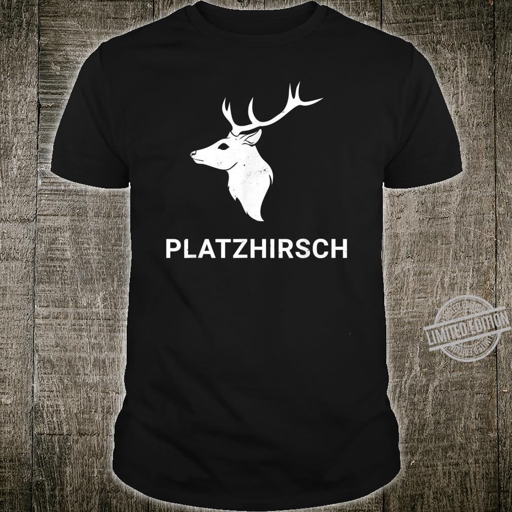 Herren Platzhirsch I Hirsch Rothirsch Jäger Jagd Jagdhund Motiv Shirt