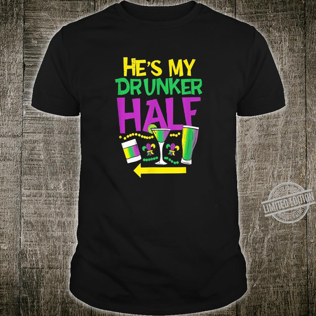 He's My Drunker Half Couple Matching St Patrick's Day Shirt