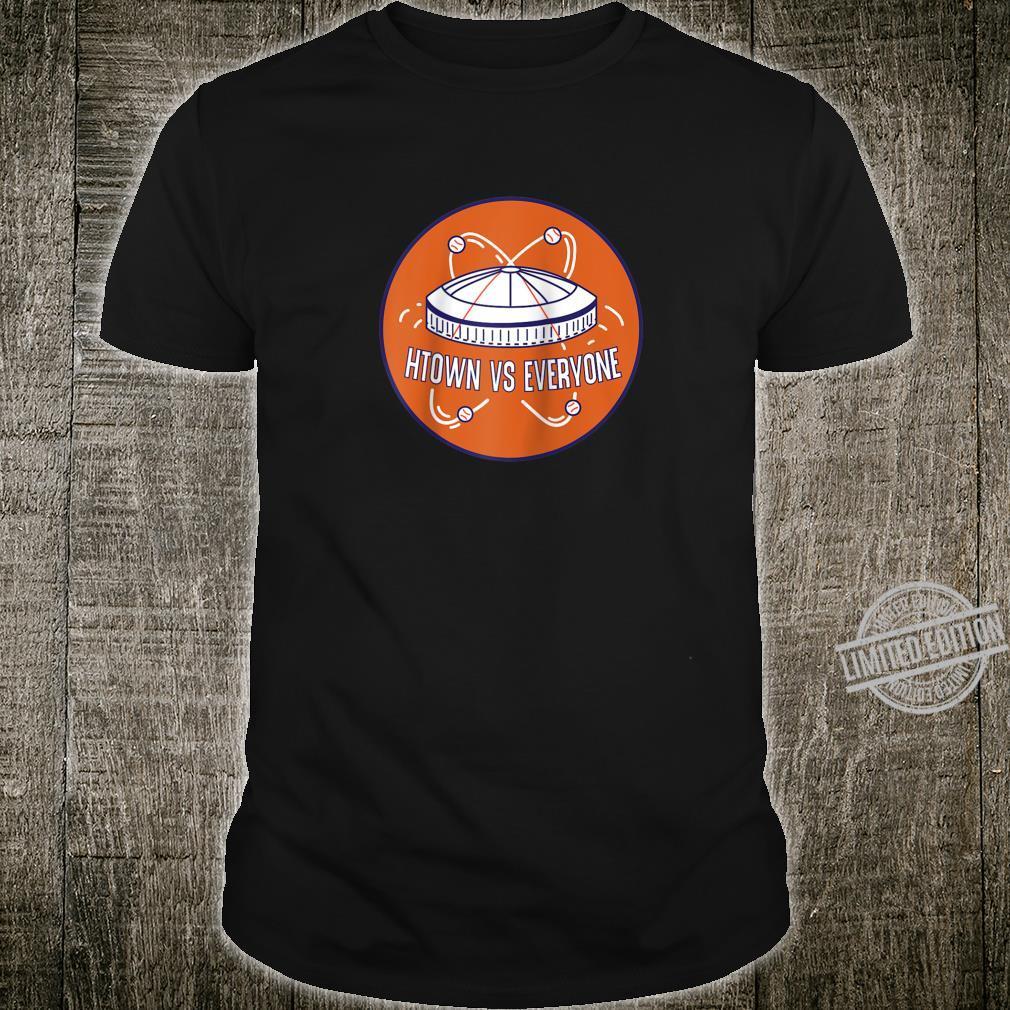 Htown vs Everyone Retro Dome Houston Baseball Fan Shirt