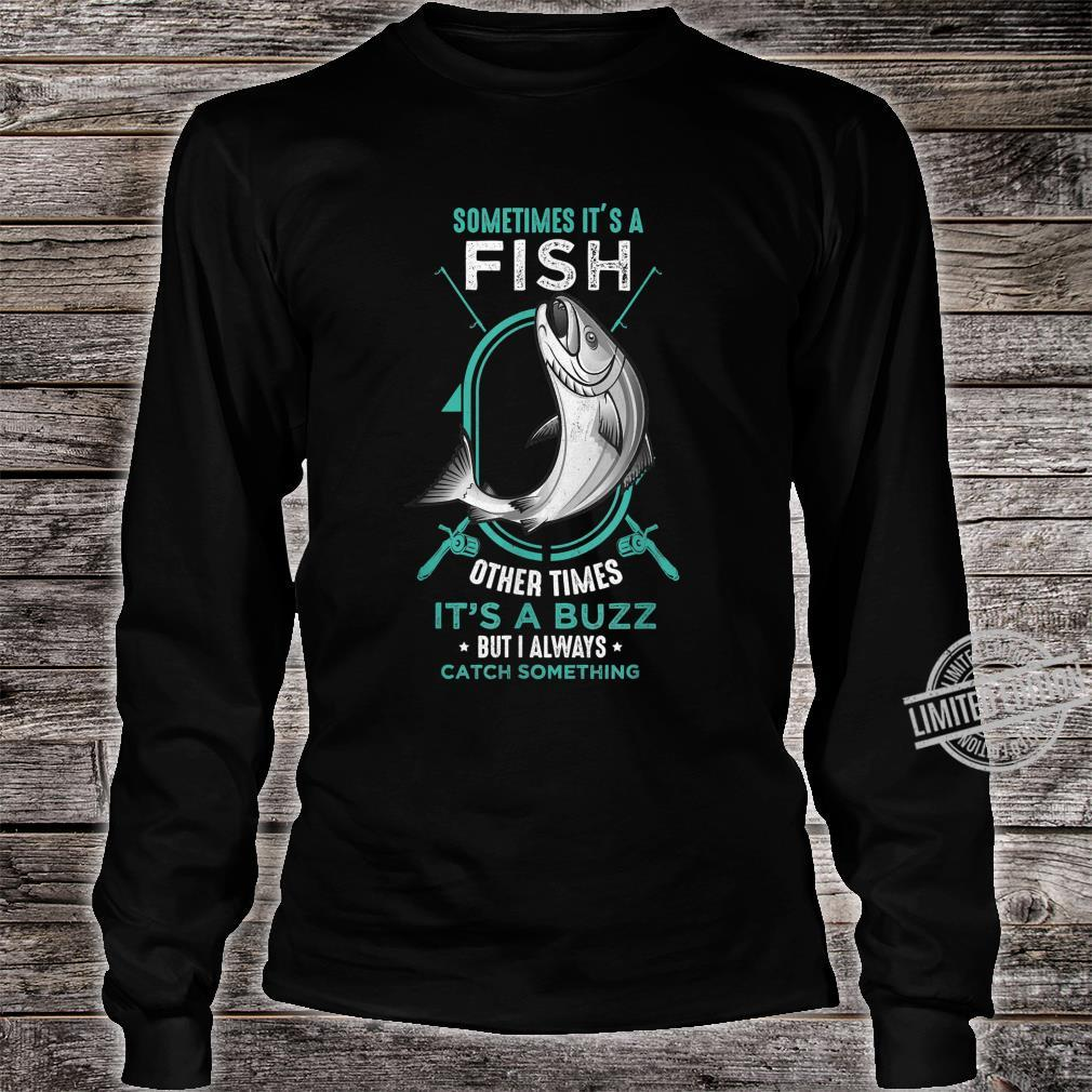 I Always Catch Something Catch Fish Fishing Rod Shirt long sleeved