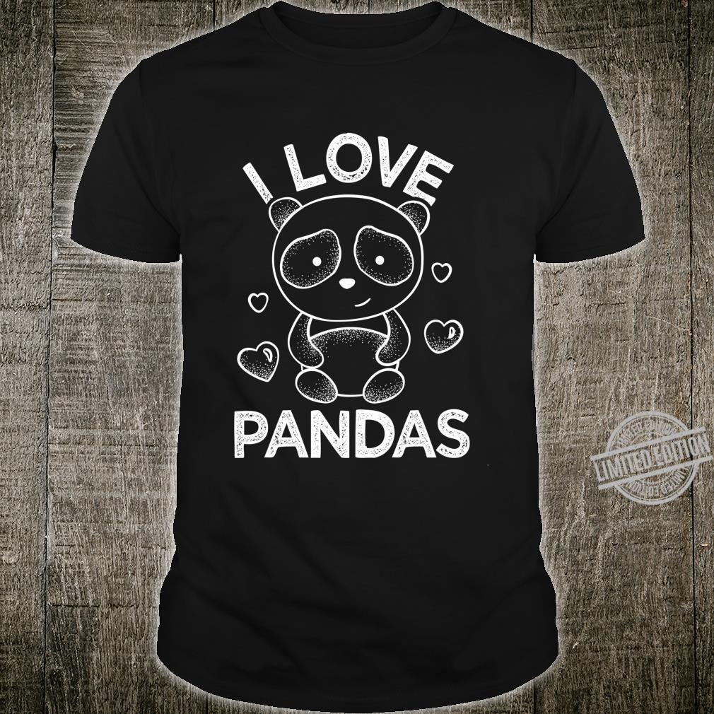 I Love Pandas Stuffed Animal Shirt Party Animal Shirt
