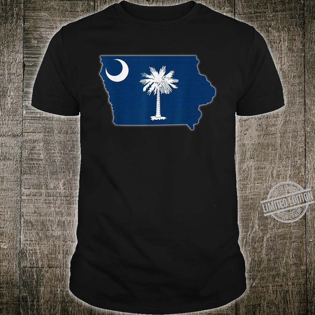 IOWA STATE MAP SOUTH CAROLINA SC Flag Roots Shirt