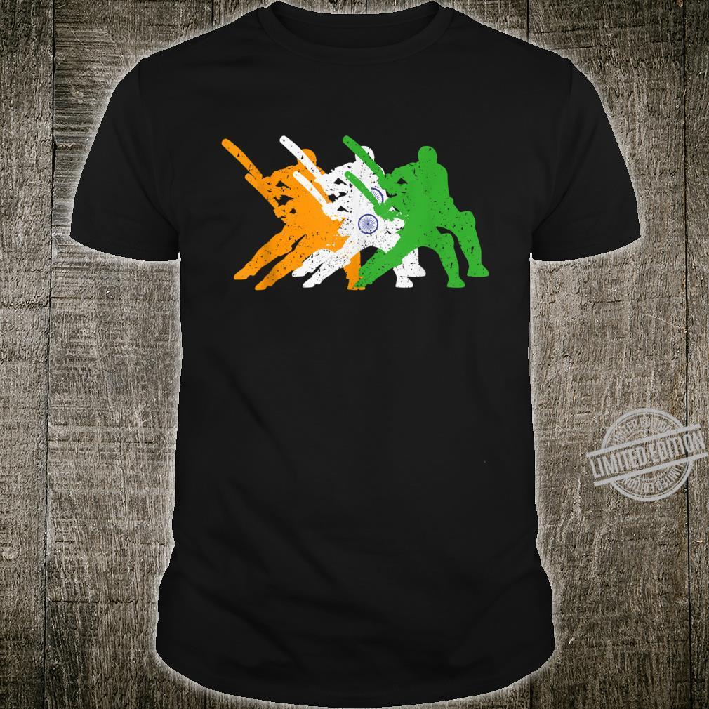 Indian Cricket Team Cricketer Fan Batsmen Flag Of India Shirt