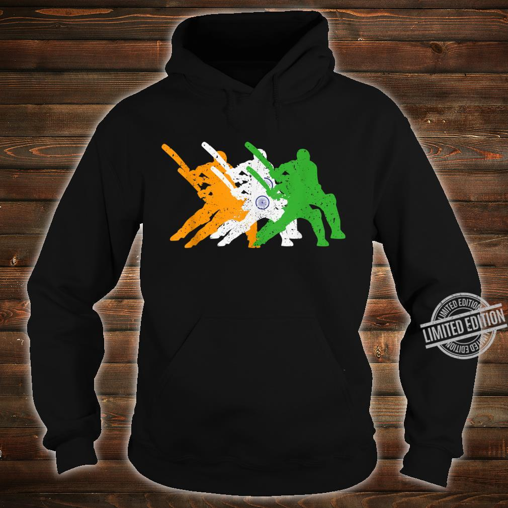 Indian Cricket Team Cricketer Fan Batsmen Flag Of India Shirt hoodie