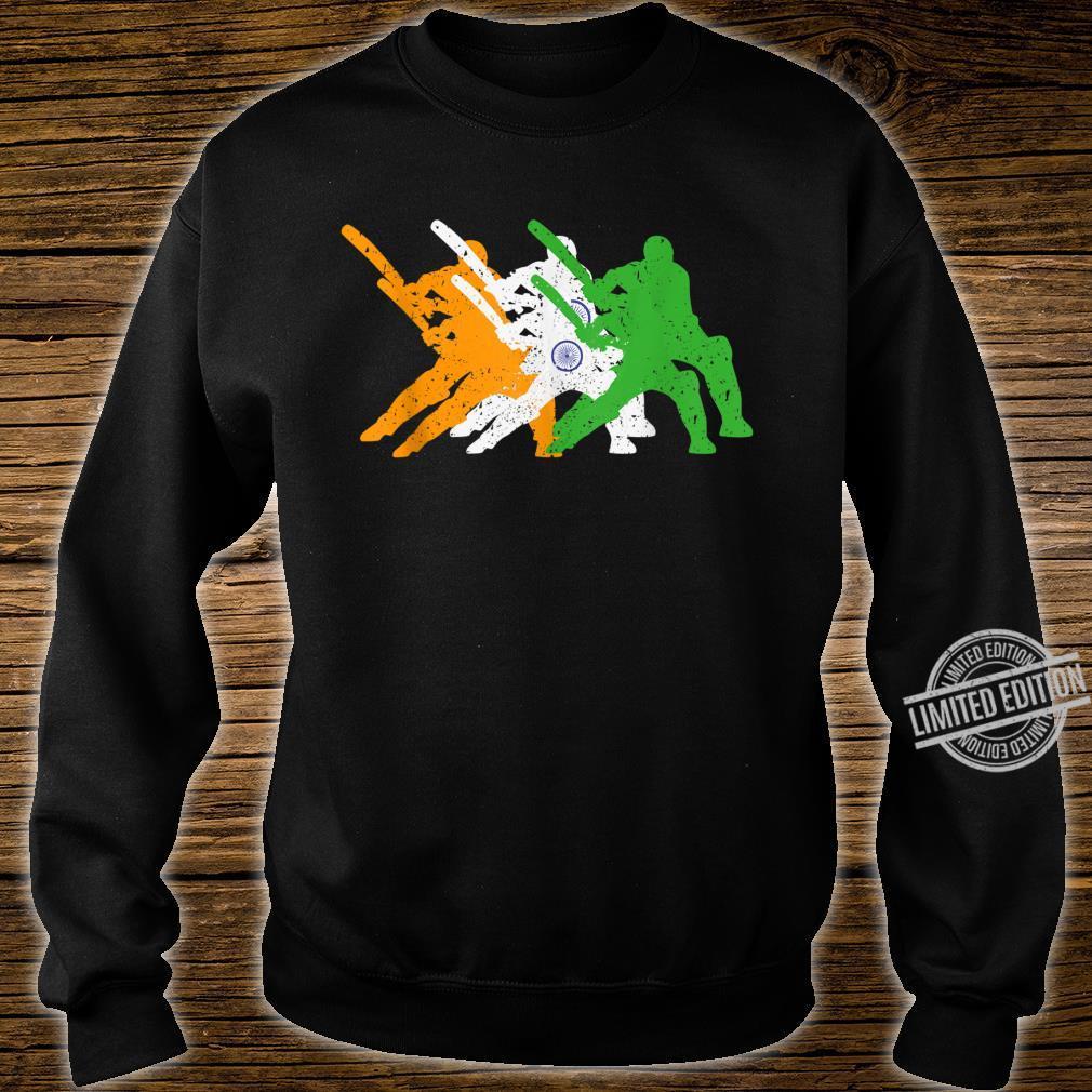 Indian Cricket Team Cricketer Fan Batsmen Flag Of India Shirt sweater