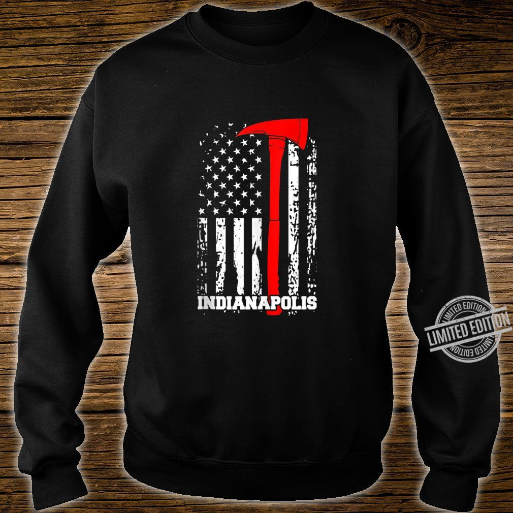 Indianapolis Firefighter Shirt Fireman American Flag Shirt sweater