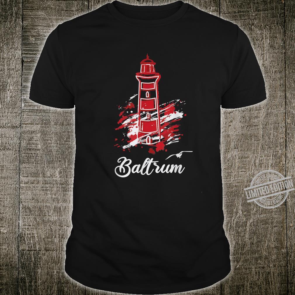 Insel Baltrum Nordsee Wattenmeer Leuchtturm Shirt