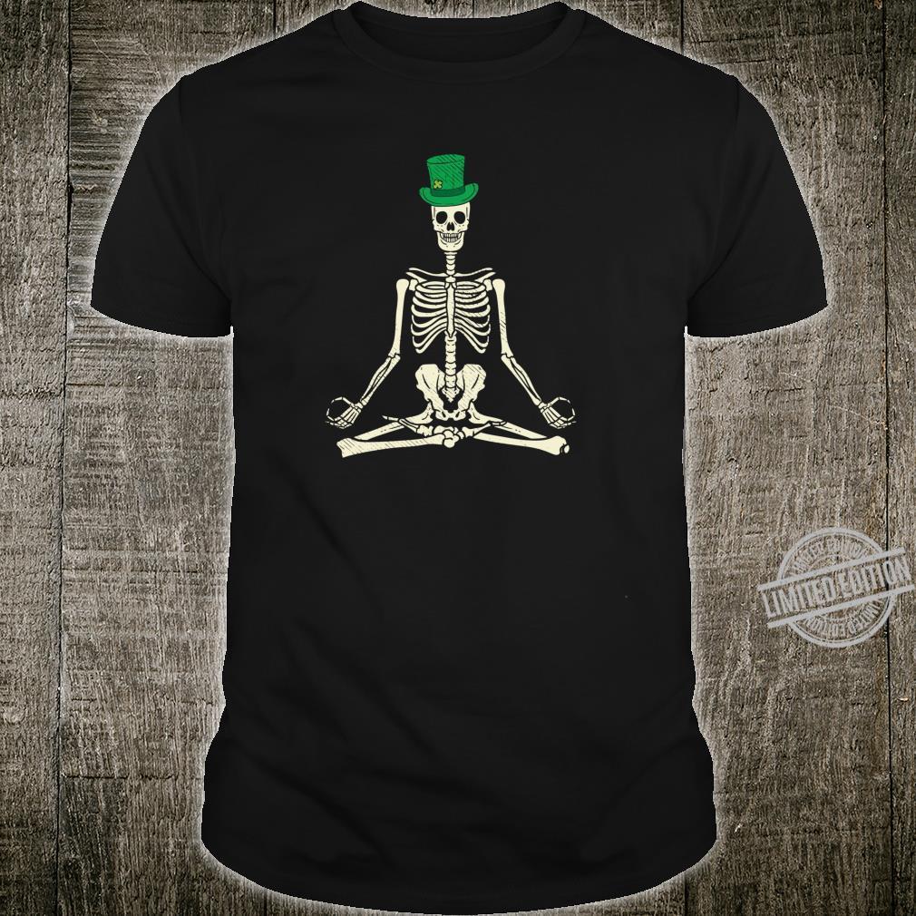 Irish Meditating Skeleton Yoga Lotus Cool St Patricks Day Shirt