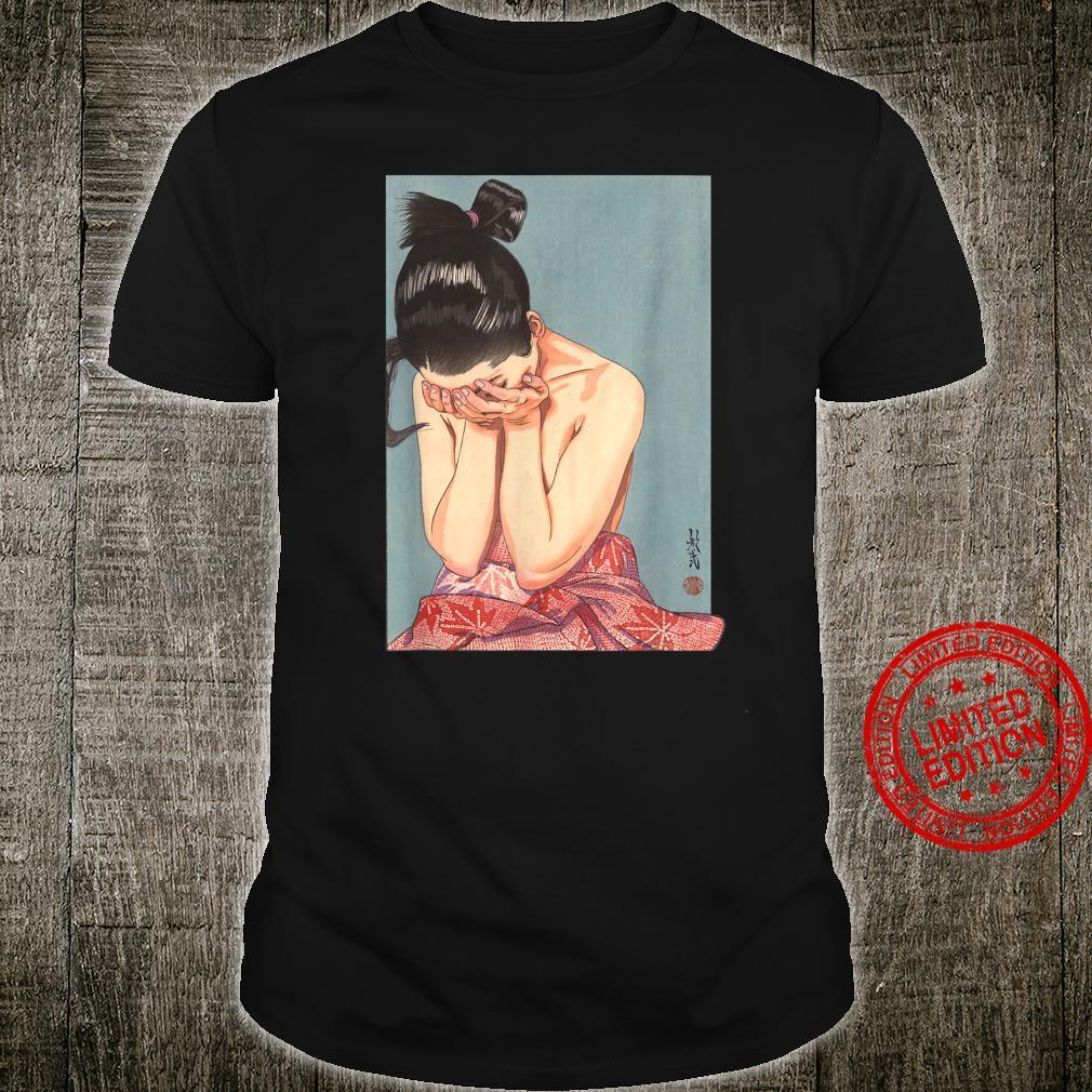 Japanese Aesthetic Girl Vintage Japan Woodblock Art Print Shirt