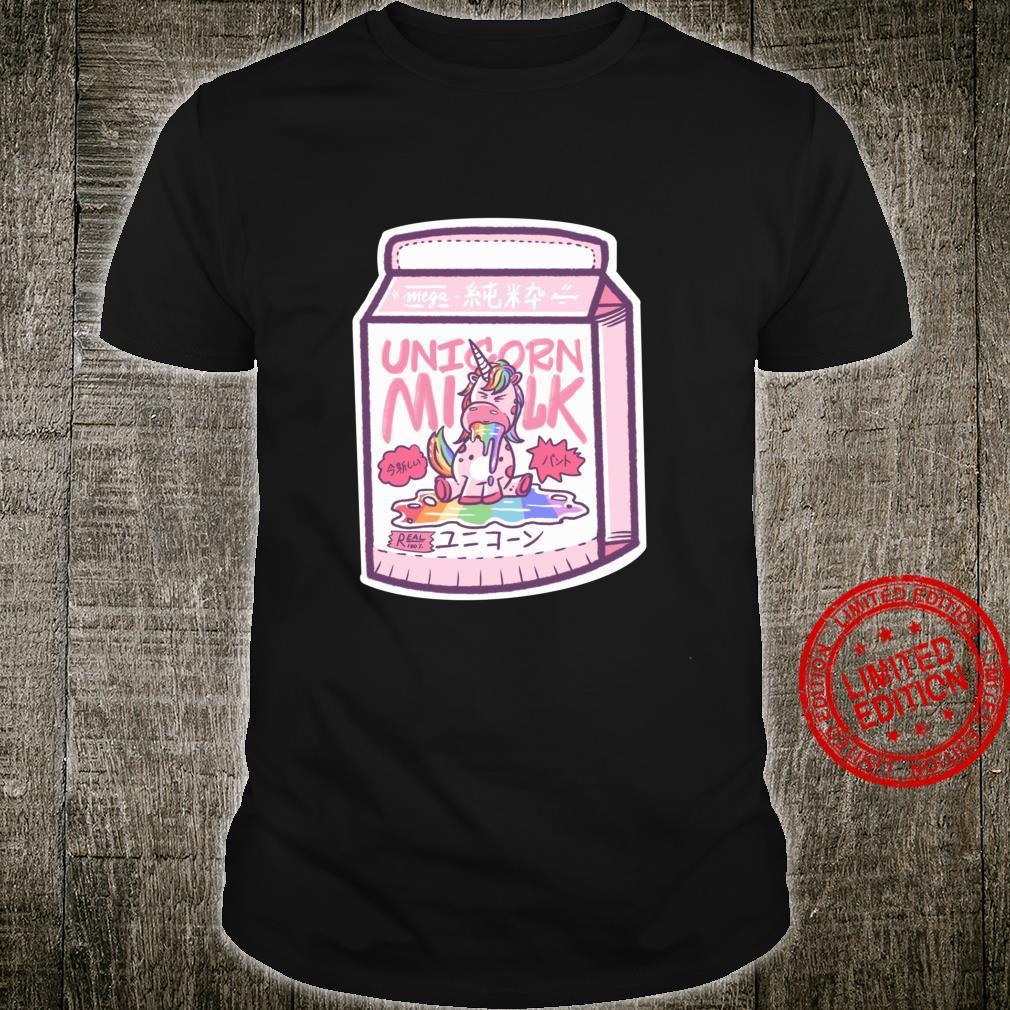 Japanese Kawaii Unicorn Milk Tea Shirt