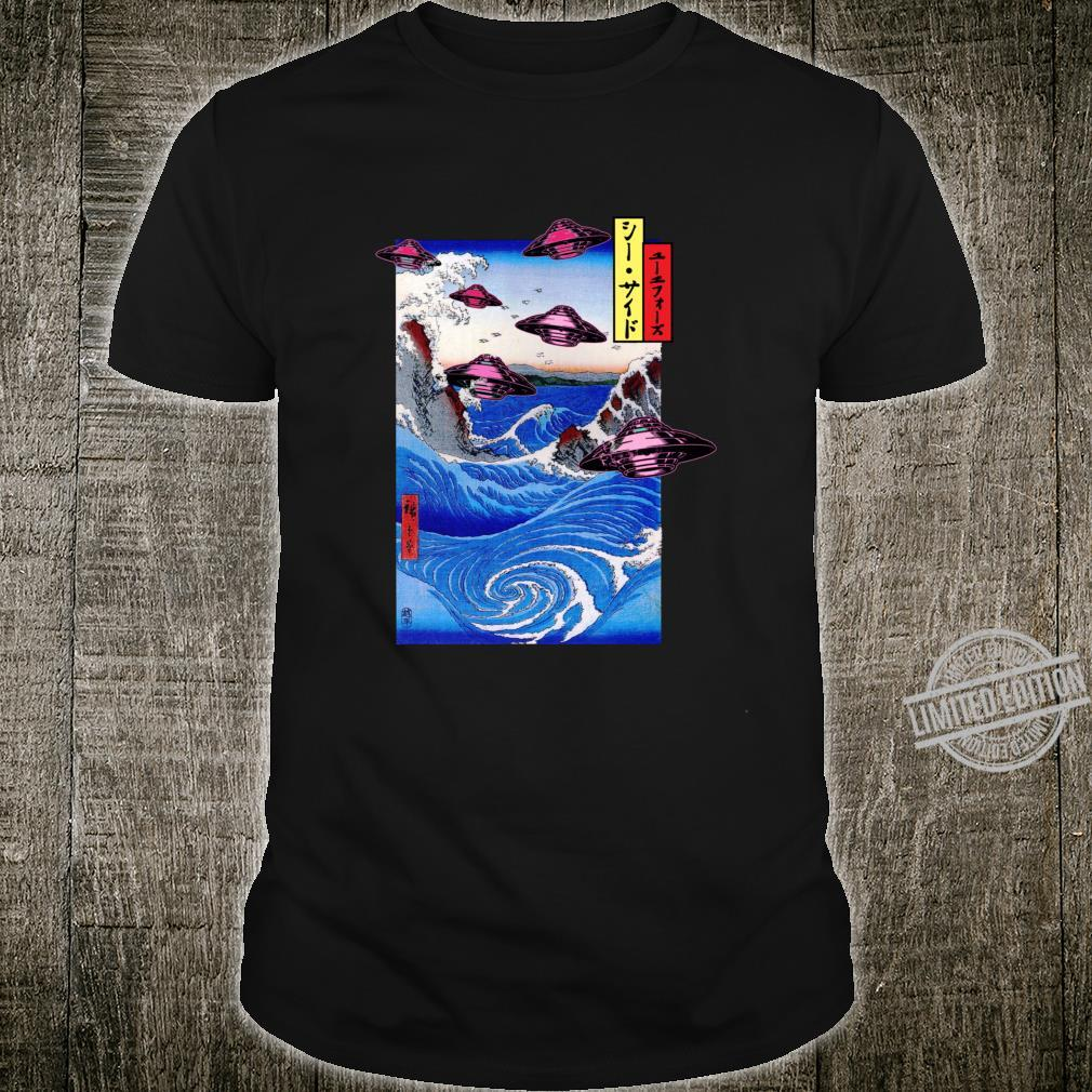 Japanese Ocean Retro UFOs Vaporwave OTAKU Whirlpool Shirt