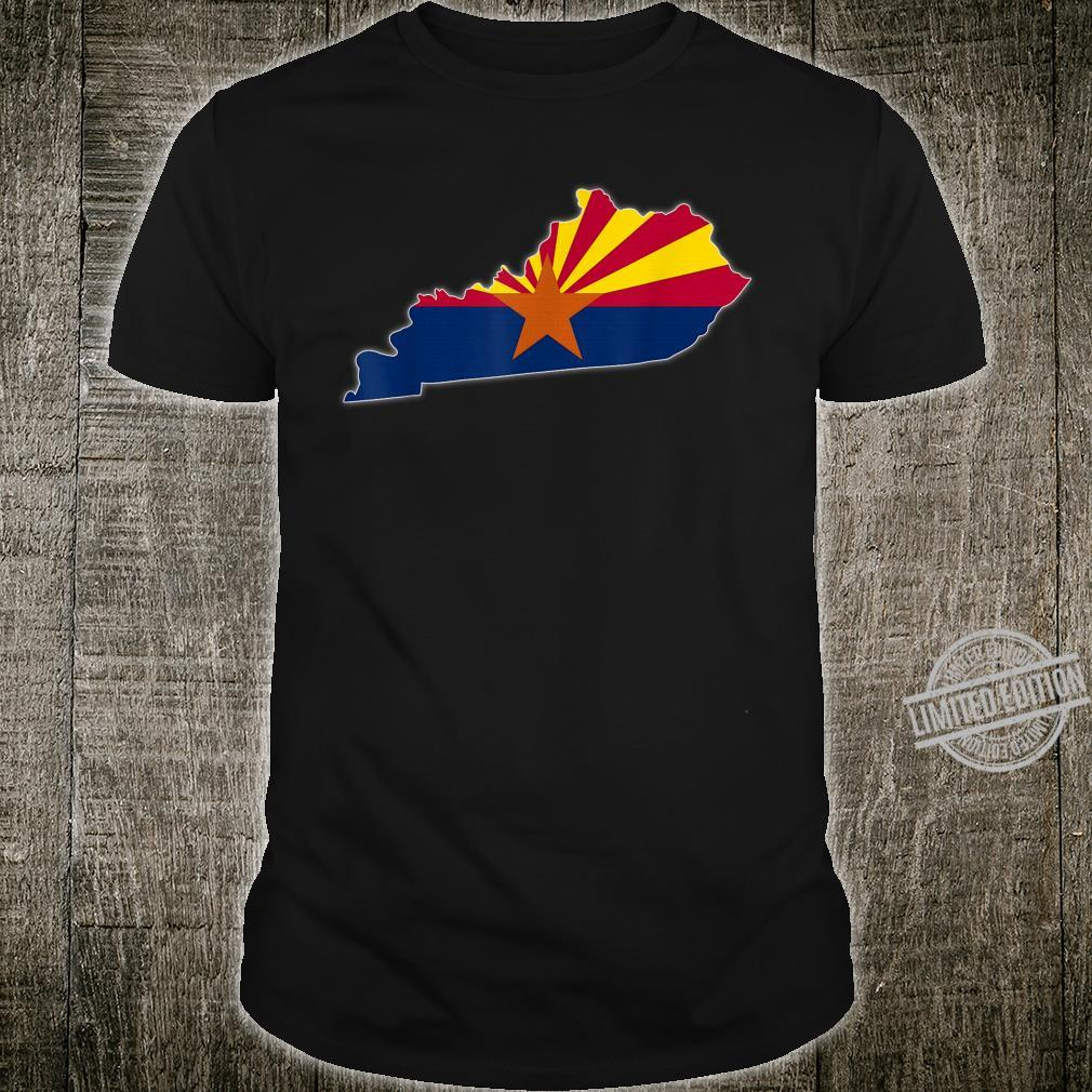 KENTUCKY STATE MAP ARIZONA AZ Flag Roots Shirt