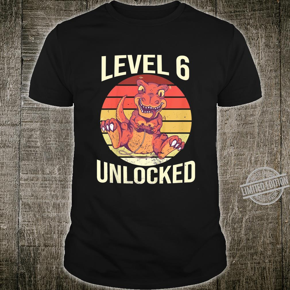 Kinder Level 6 Unlocked 6. Geburtstag 6 Jahre alt Gaming Shirt