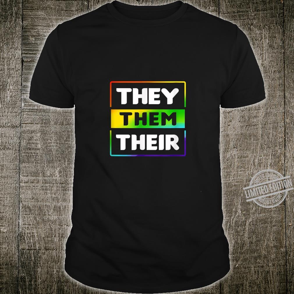 LGBT They Them Their Gay Lesbian Transgender Pride Shirt