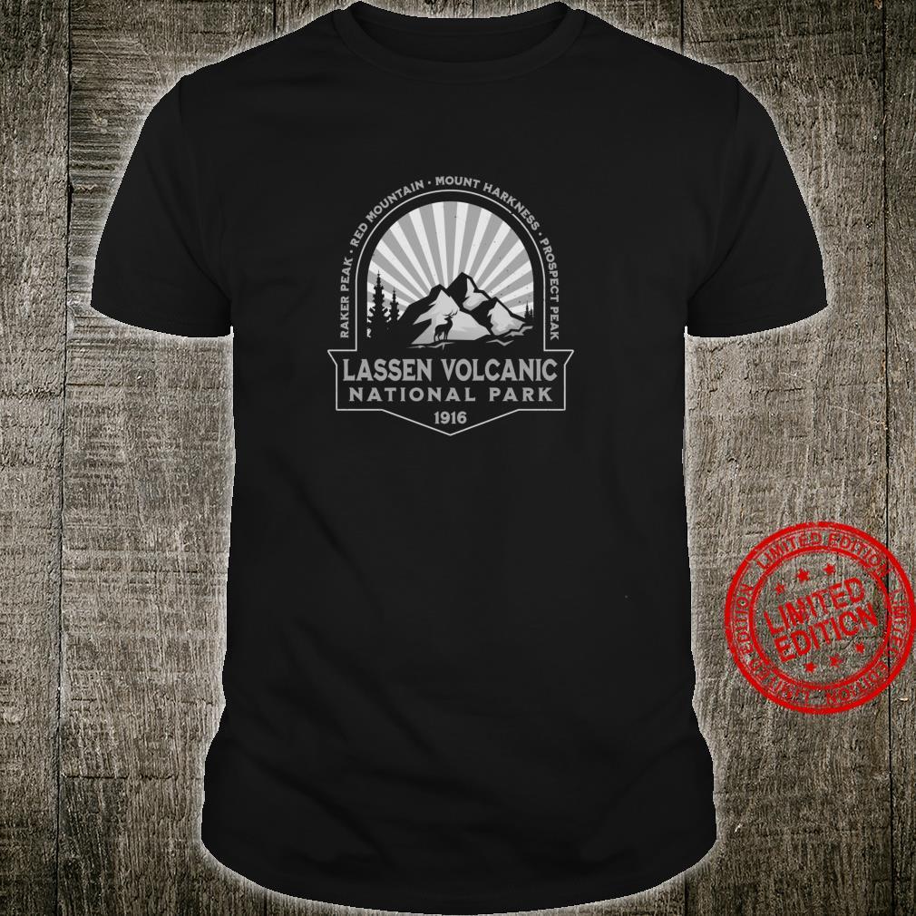 Lassen Volcanic National Park California Retro Hiking Shirt