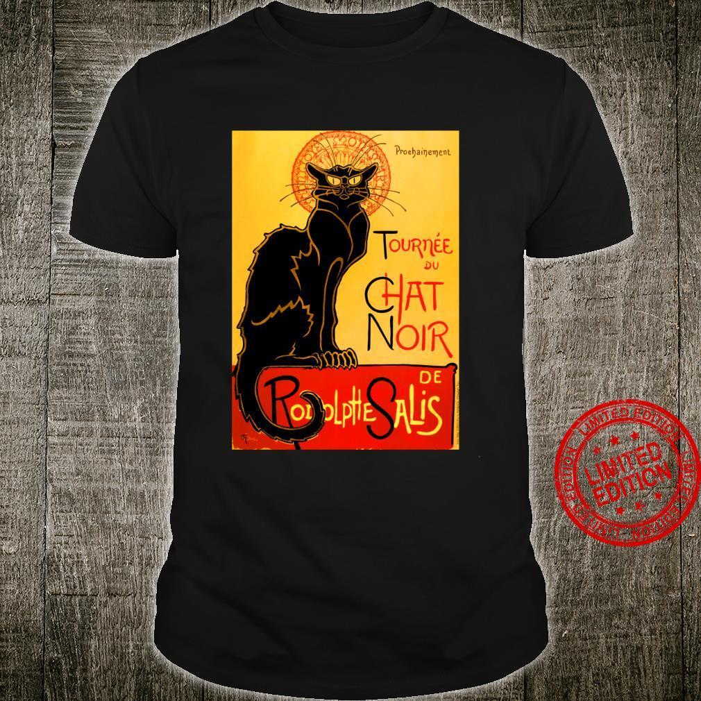 Le Chat Noir The Black Cat schwarze Katzen Shirt Langarmshirt Shirt