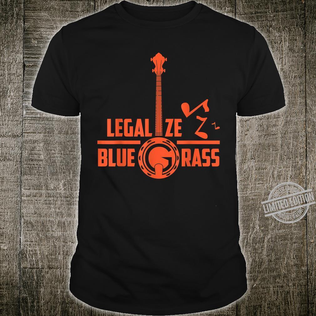Legalize Bluegrass Banjo Vintage Hippie Bluegrass Music Fan Shirt