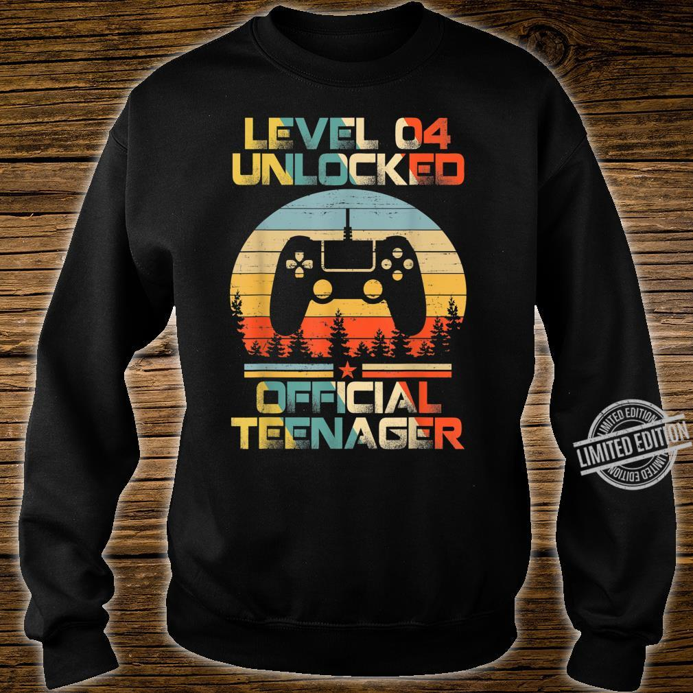 Level 4 Unlocked Officialnager 4th Birthday Gamer Shirt sweater