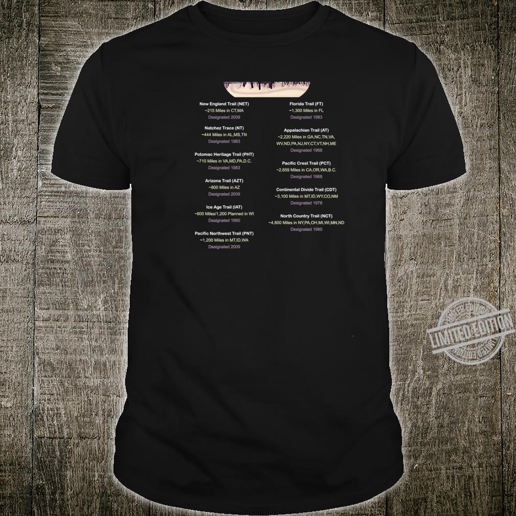 List of National Scenic Trails Shirt