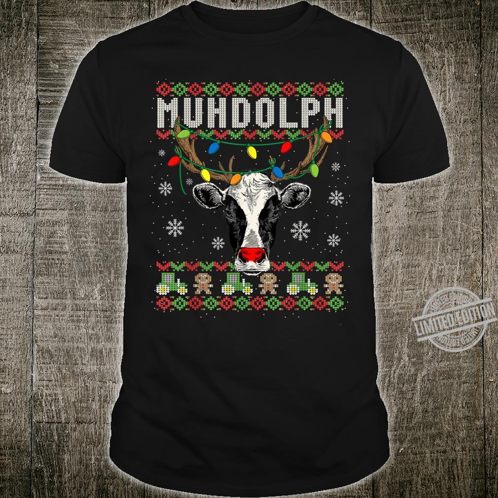 Lustiges Muhdolph Ugly Christmas Weihnachten Kühe Rentier Shirt