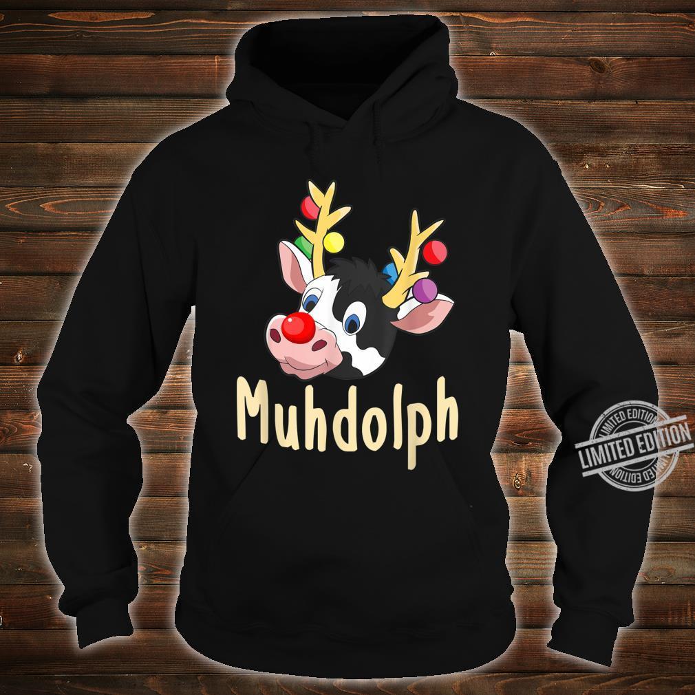 Lustiges Muhdolph Weihnachten Kühe Bauer Rentier Geschenk Shirt hoodie