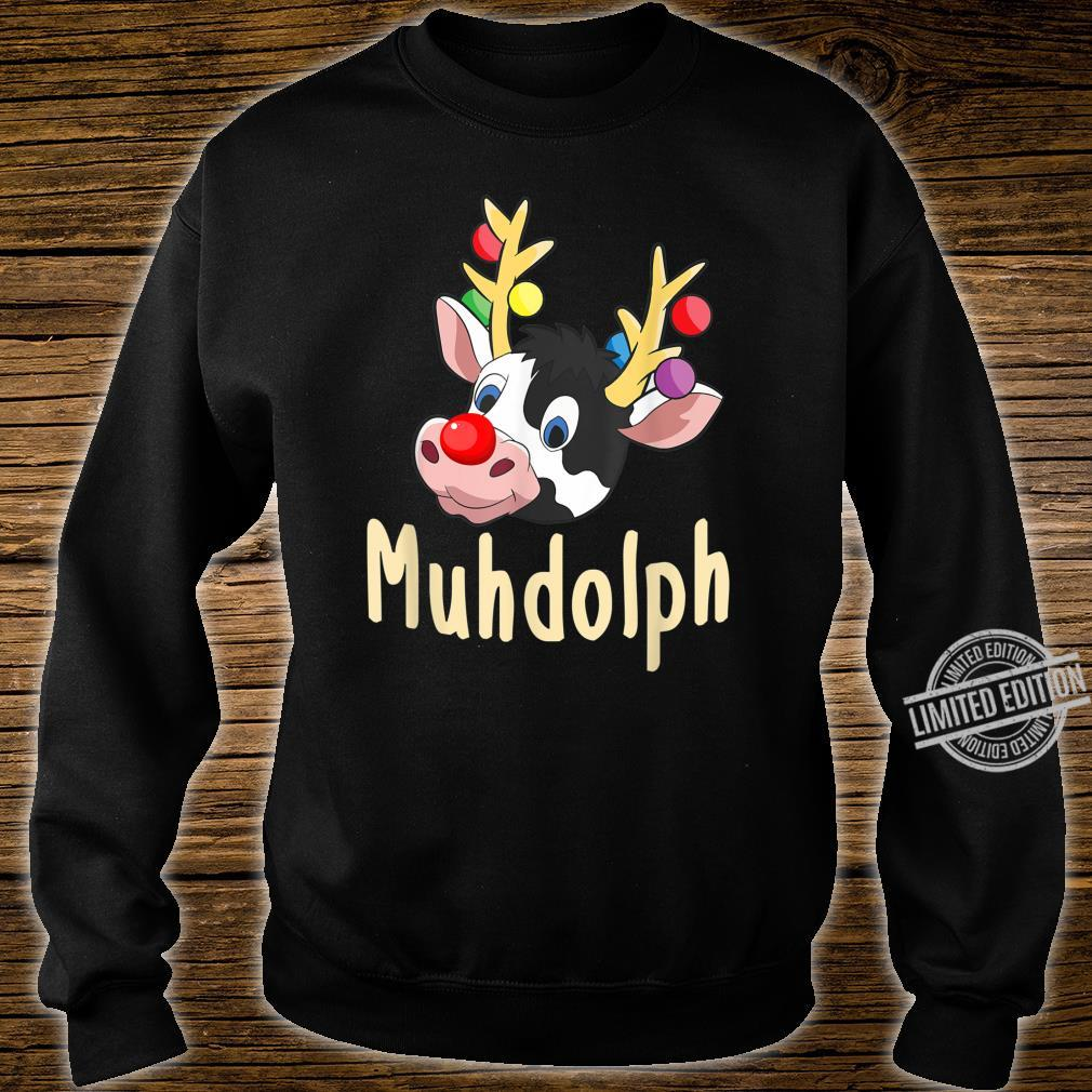 Lustiges Muhdolph Weihnachten Kühe Bauer Rentier Geschenk Shirt sweater