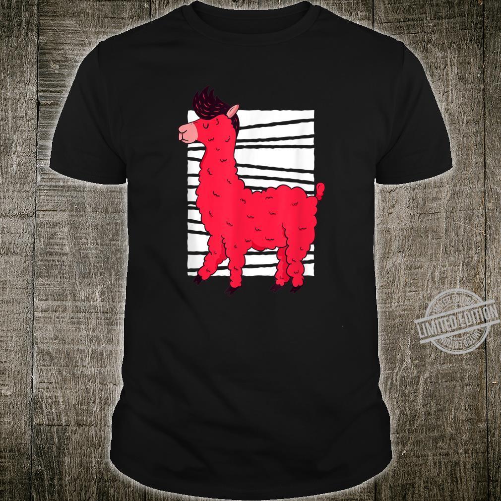 Lustiges rosa Lama Alpaka Süßes pelziges LamaLiebesgeschenk Shirt