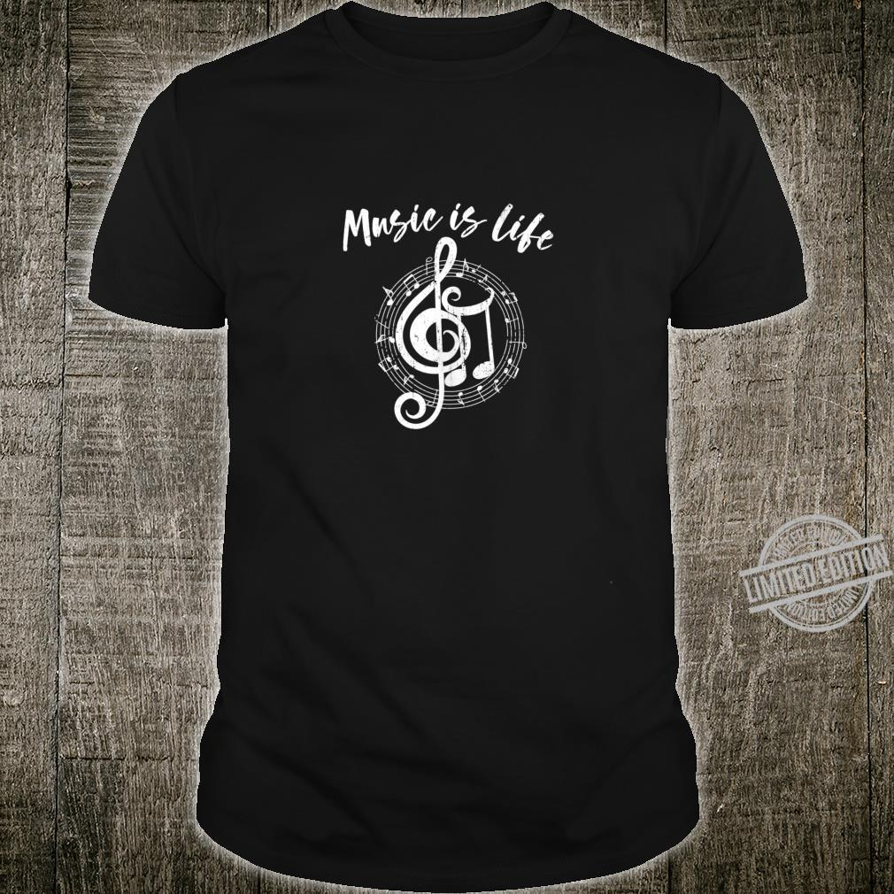 MUSIC IS LIFE Notes School Band Orchestra Teacher Musician Shirt