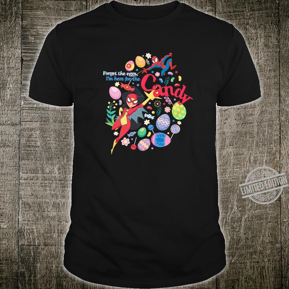 Marvel SpiderMan and SpiderWoman Here for the Candy Easter Shirt