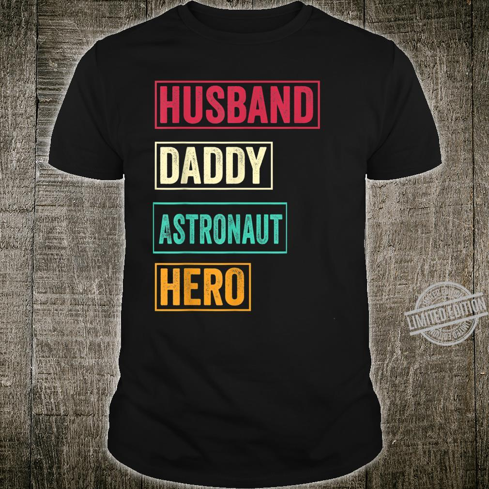 Mens Astronaut Dad Astronaut Father's Day Shirt