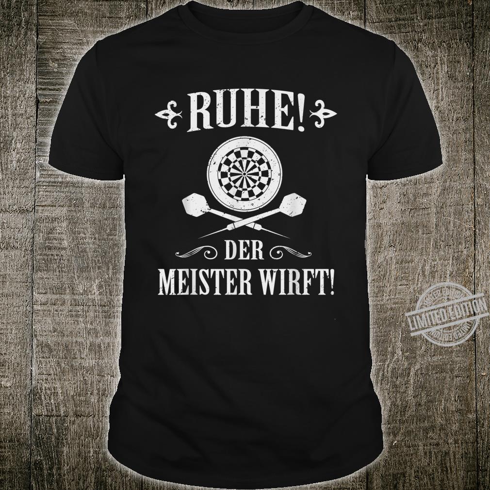 Men's Darts I Ruhe Der Meister Wirft Shirt