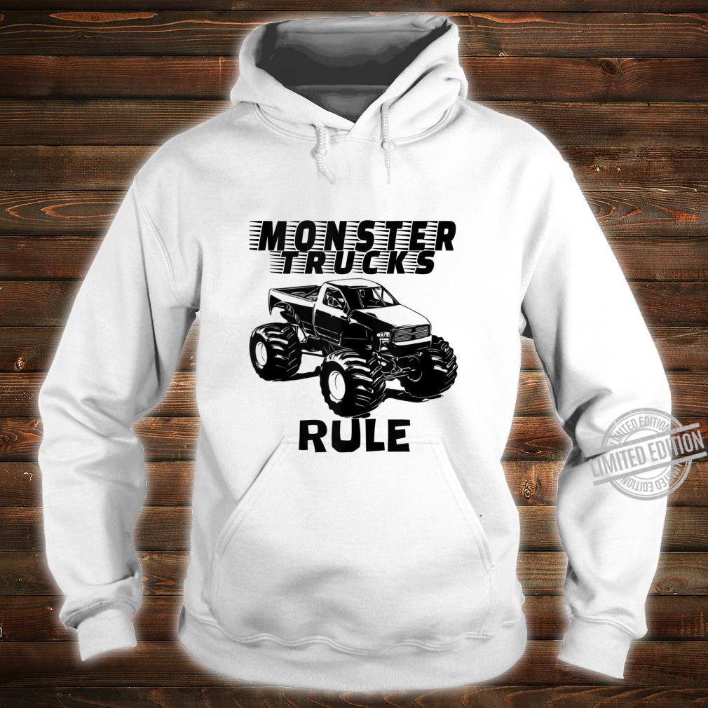 Mens The # 1 best Monster Trucks Rules on the planet. Shirt hoodie