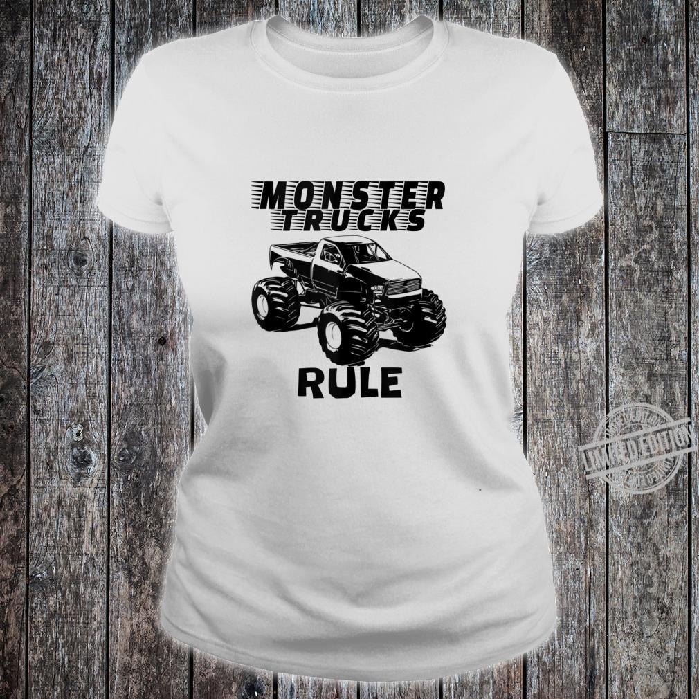 Mens The # 1 best Monster Trucks Rules on the planet. Shirt ladies tee