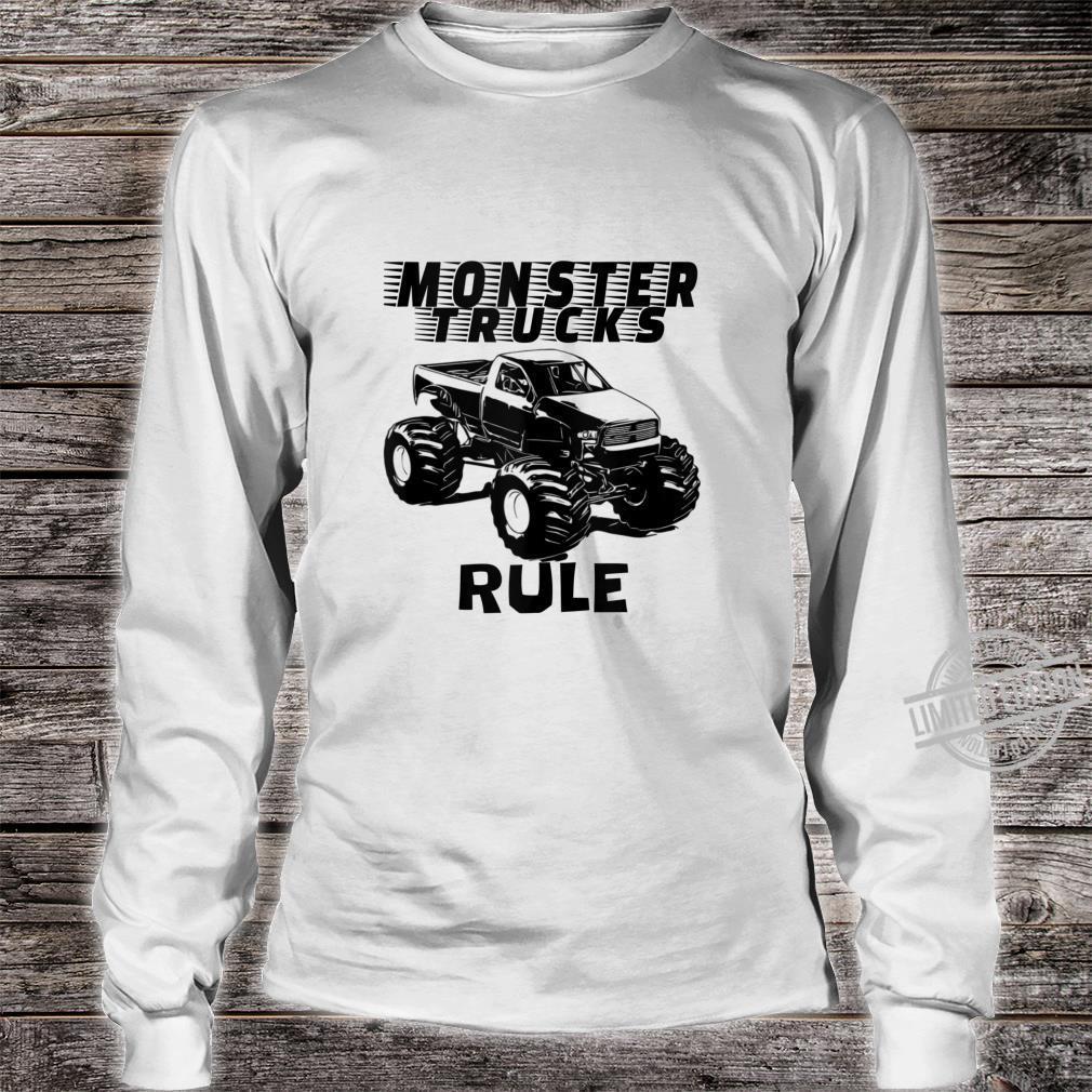 Mens The # 1 best Monster Trucks Rules on the planet. Shirt long sleeved