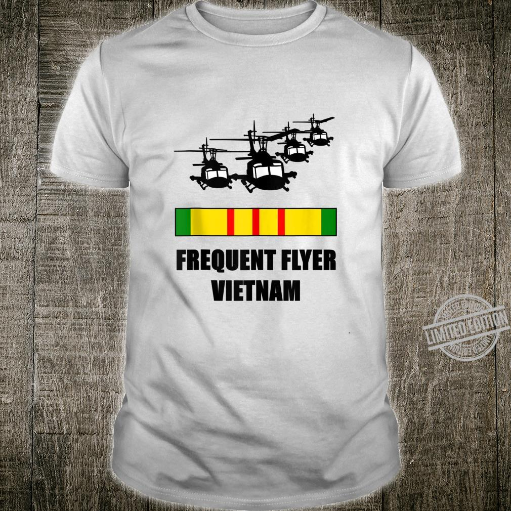 Mens Vietnam Veteran Frequent Flyer Huey Military Welcome Home Shirt