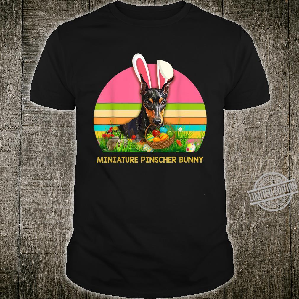 Miniature Pinscher Bunny Pet Dog Hunting Egg Easter Day Shirt
