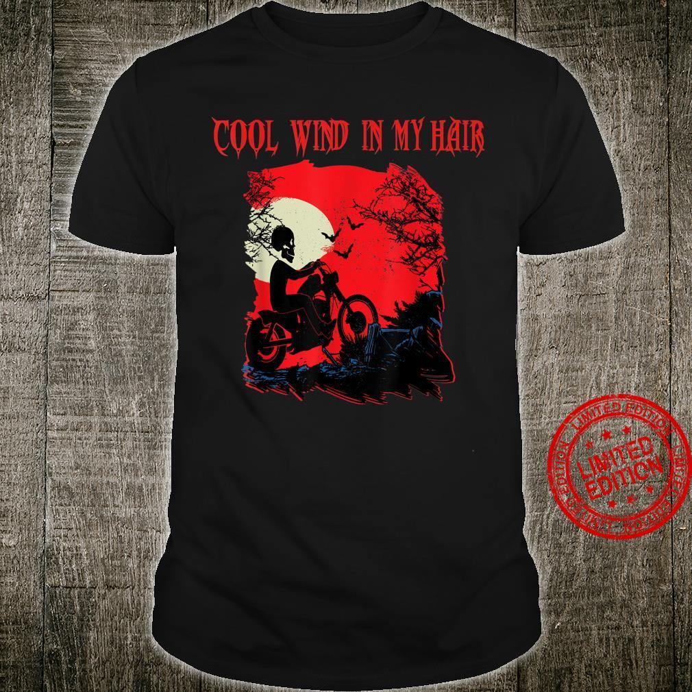 Motorrad biker Skelett Halloween Grusel Rocker FUN Outfit Shirt