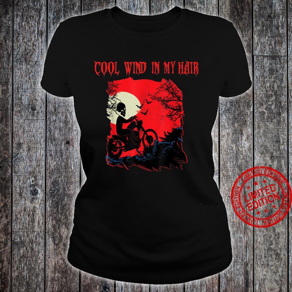 Motorrad biker Skelett Halloween Grusel Rocker FUN Outfit Shirt ladies tee