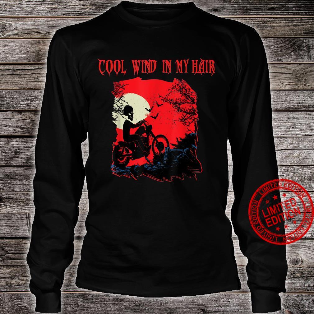 Motorrad biker Skelett Halloween Grusel Rocker FUN Outfit Shirt long sleeved