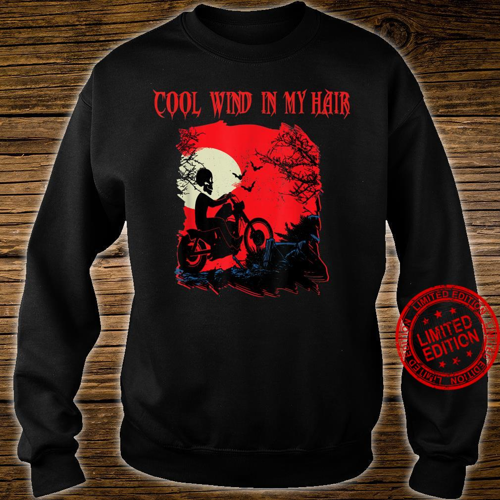 Motorrad biker Skelett Halloween Grusel Rocker FUN Outfit Shirt sweater
