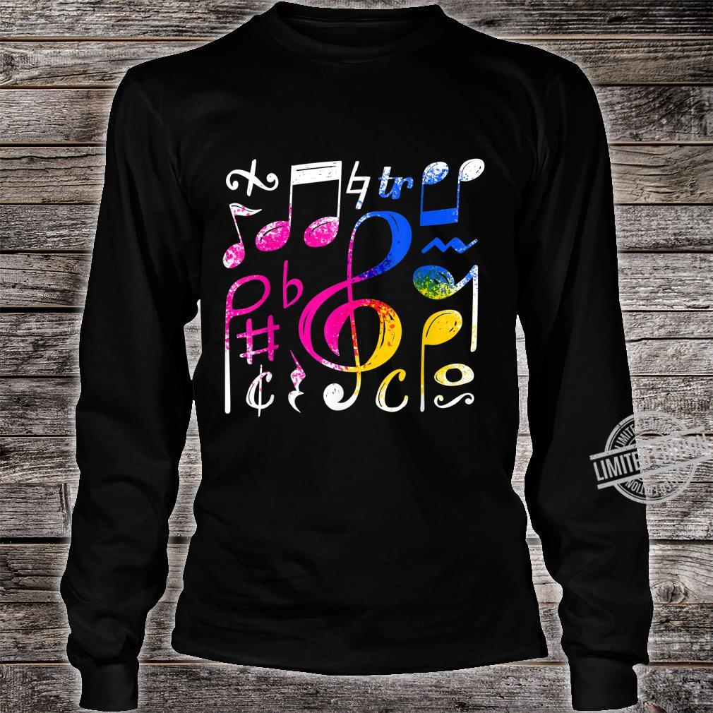 Music Musical Notes Treble Clef Shirt long sleeved