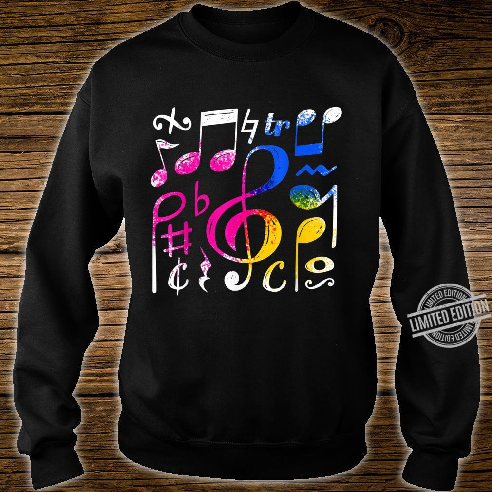 Music Musical Notes Treble Clef Shirt sweater