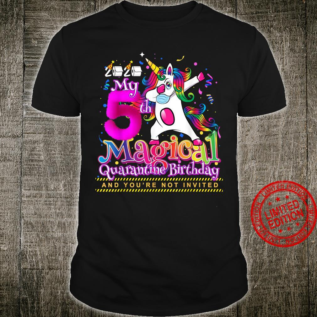 My 5th Magical Birthday Quarantine Dabbing Unicorn for Girls Shirt