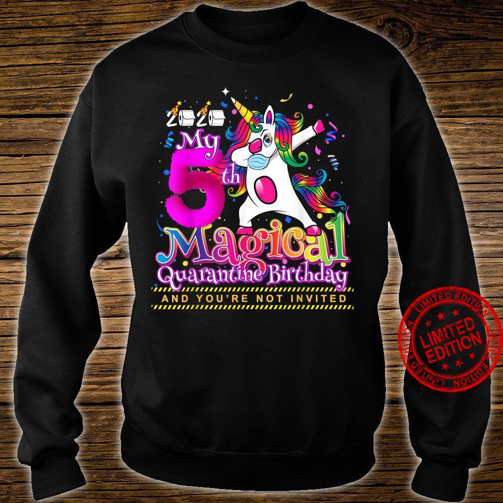 My 5th Magical Birthday Quarantine Dabbing Unicorn for Girls Shirt sweater