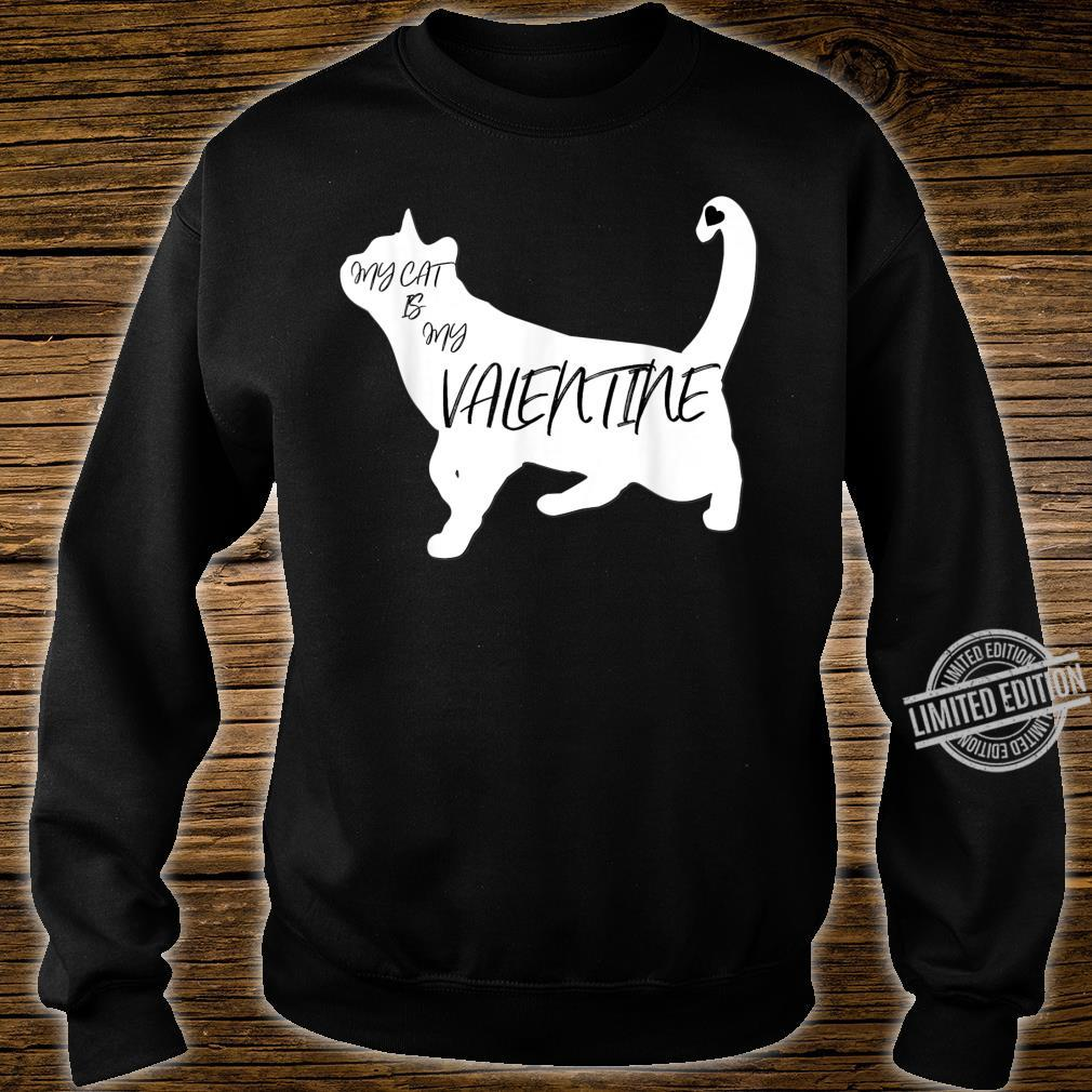 My Cat Is My Valentine Cute Silhouette Shirt sweater