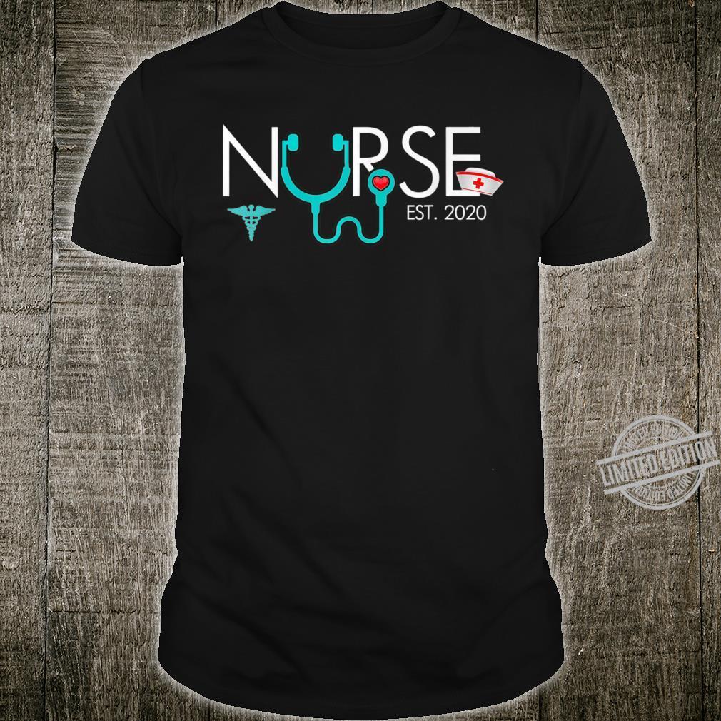 Nurse Est 2020RN Nursing School Graduation Graduate Shirt