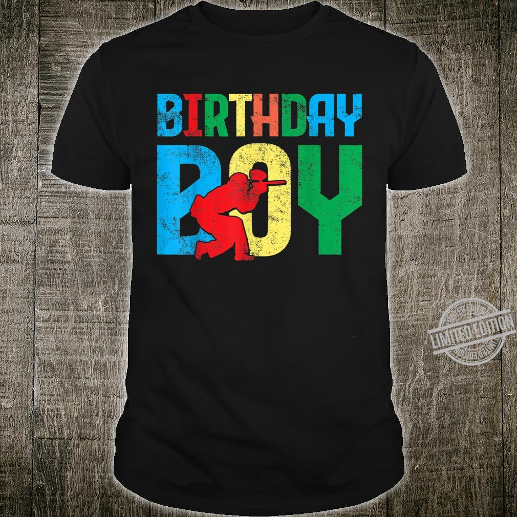 Paintball Birthday Party Shirt