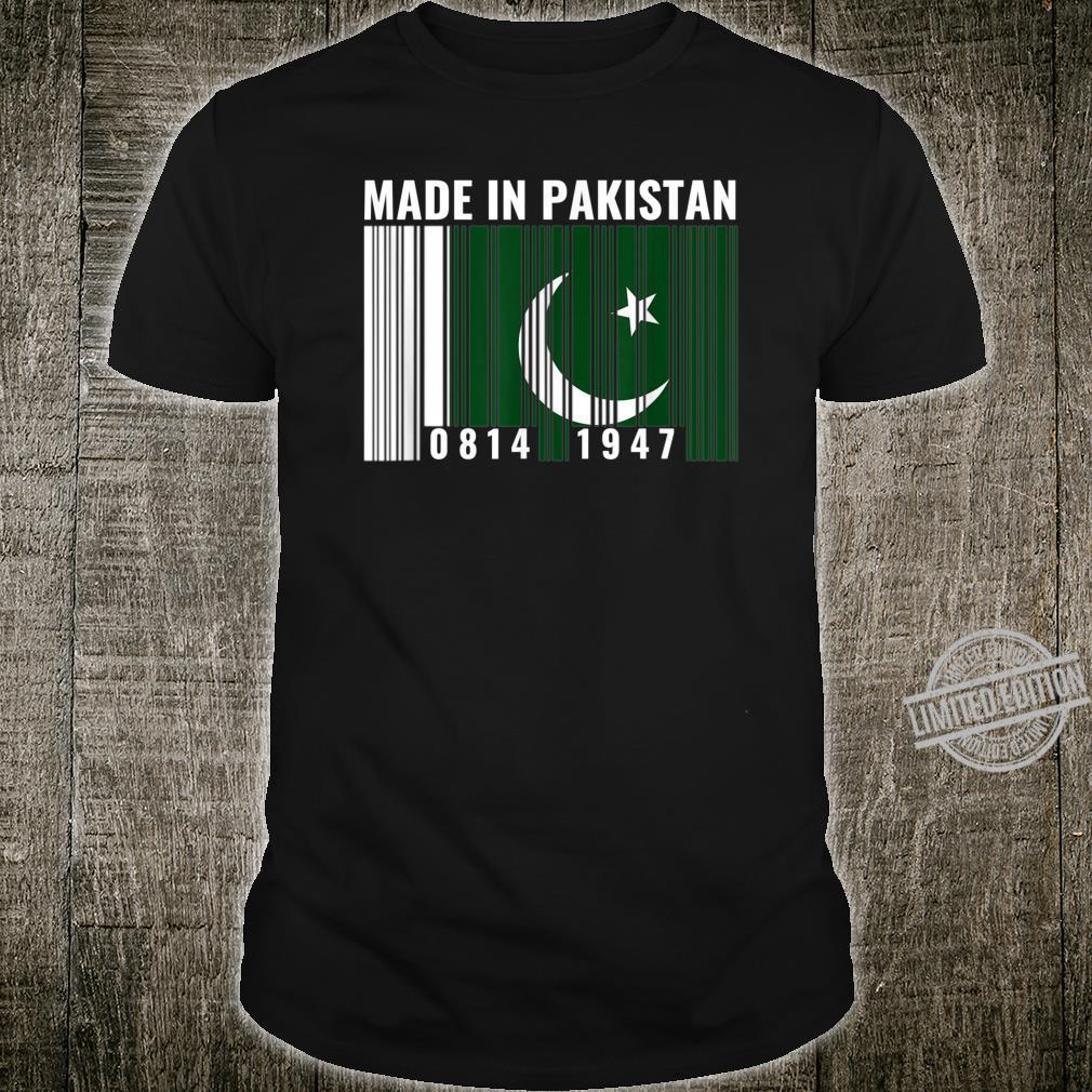 Pakistanisches Erbe Pakistanische Wurzeln Strichcode Shirt