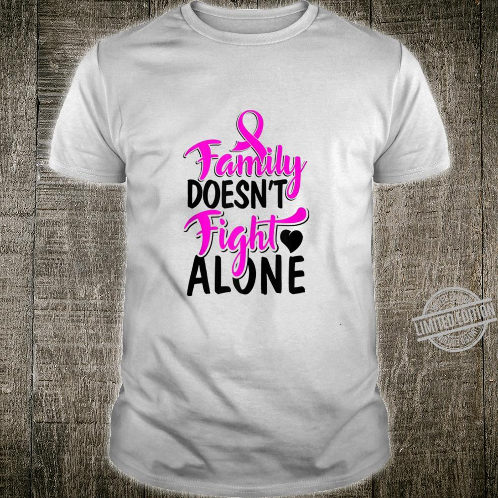 Pink Ribbon Breast Cancer Fight Run Walk Family Support Shirt