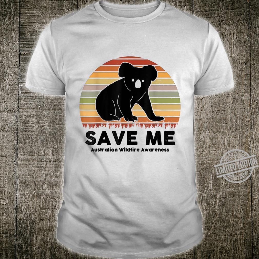 Pray For Australia Wildfire Save Koala Distress Vintage Shirt